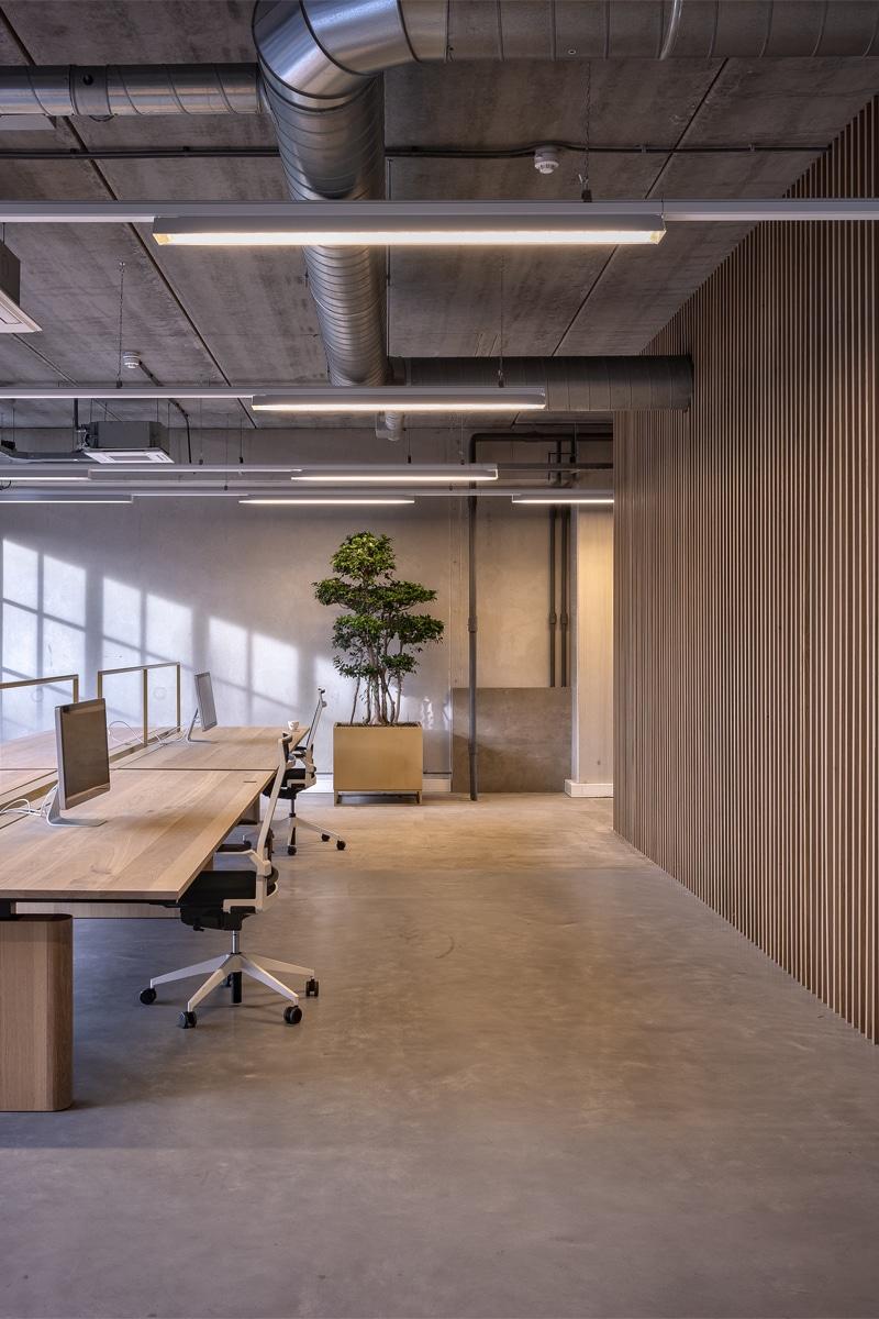 Verlichting op het kantoor van Project Moore