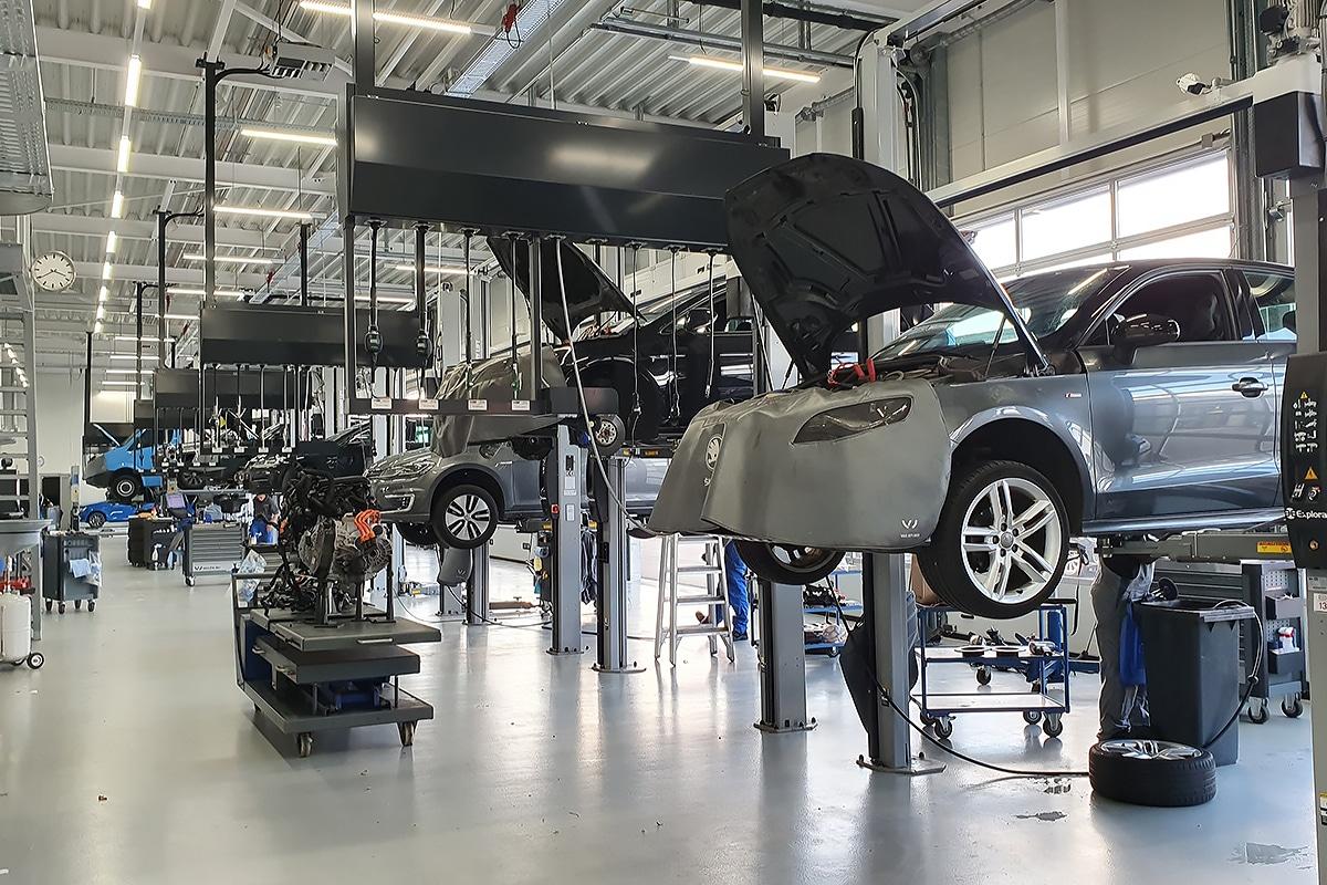 Verlichting autoshowroom, autodealers en garages