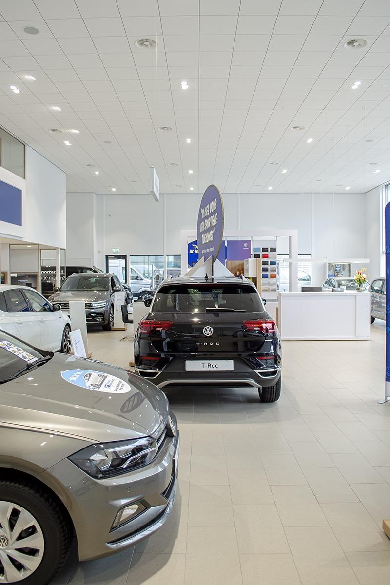 Verlichting voor de automotive sector en autoshowrooms
