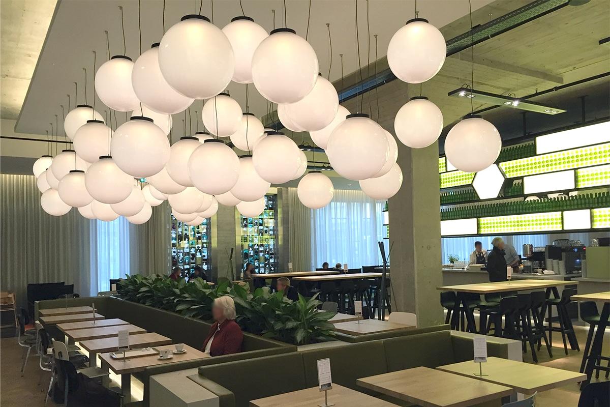 De Bijenkorf Eindhoven restaurant verlichting Lightboxx