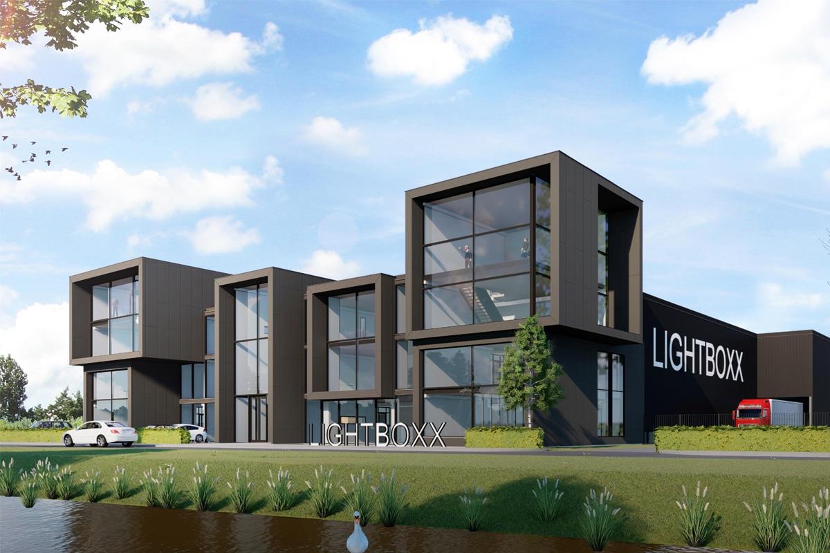 """Powerlight bouwt pand """"Lightboxx"""" op industrieterrein de Flier langs de A28 in Nijkerk"""