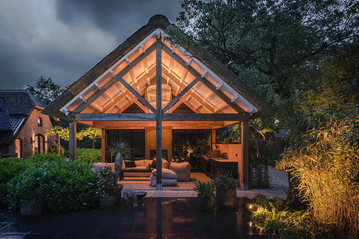 Buitenverlichting luxe tuin Hoevelaken